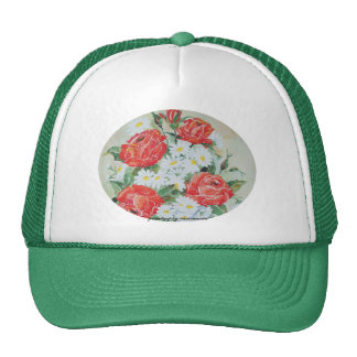 Hat Daisies and Roses
