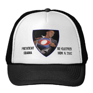 Hat de presidente Obama Re-elected Gorros