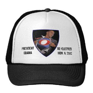Hat de presidente Obama Re-elected Gorros Bordados