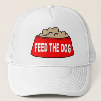 Hat Dog Food Bowl Red Feed The Dog