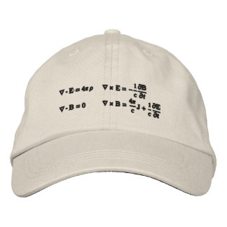 Hat, embroidered, Maxwell's equations Cap