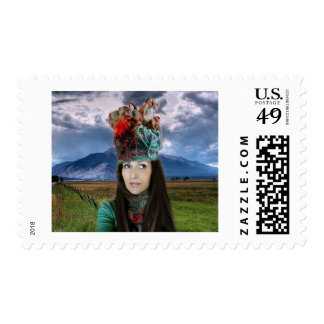 hat expressions postage stamp