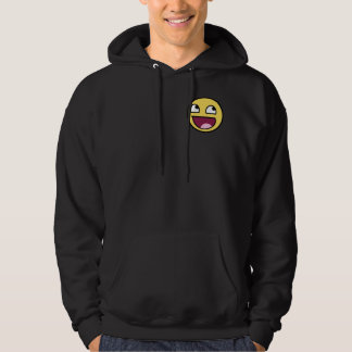 Hat face hooded pullover