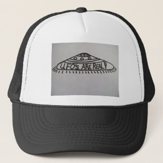 Hat :Flying saucer  and words UFO'S ARE REAL!
