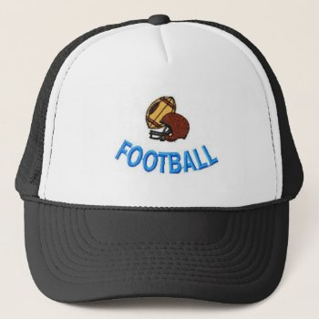 Hat Football  Customize  Black  With White by creativeconceptss at Zazzle