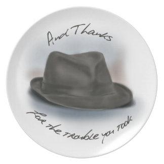 Hat for Leonard 1 Melamine Plate
