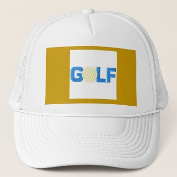 Hat Golf    Customize  White by creativeconceptss at Zazzle