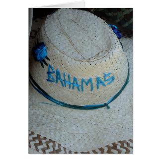 hat grand bahamas greeting cards