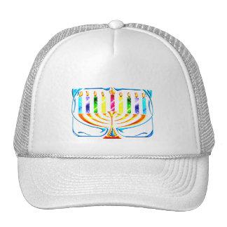 Hat: Hanukkah Menorah - Chanukah Menorah Trucker Hat