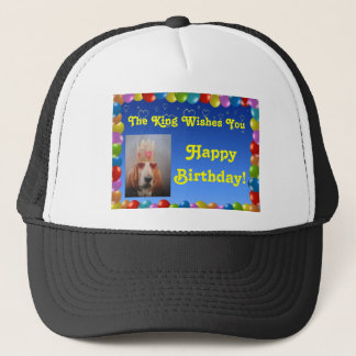 Hat Happy Birthday With Basset Hound King