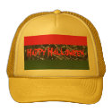 Hat - Happy Halloween - Yellow, red and green