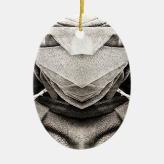 Hat Image in Shades of Grey Christmas Ornaments