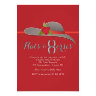 """Hat Invitation de señora preciosa Invitación 5"""" X 7"""""""