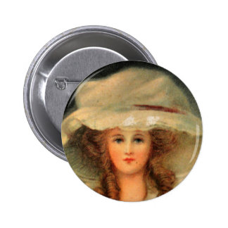 Hat lady button