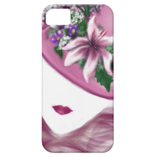 hat lady easter tea party card design iPhone SE/5/5s case