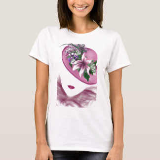 hat lady easter tea party card design T-Shirt