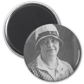 Hat lady with Polka Dot Dress 2 Inch Round Magnet