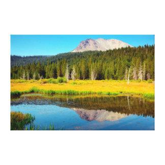 Hat Lake In Lassen Volcanic National Park Canvas Prints