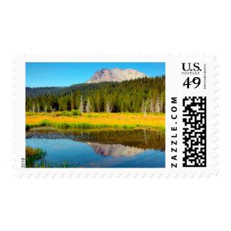 Hat Lake In Lassen Volcanic National Park Postage