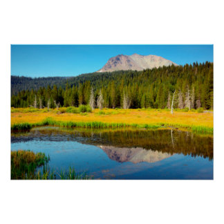 Hat Lake In Lassen Volcanic National Park Poster