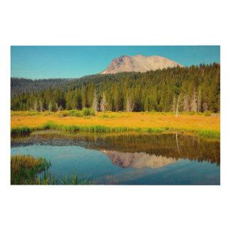 Hat Lake In Lassen Volcanic National Park Wood Wall Art