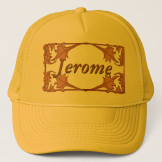Hat - Leafy Bracket Frame with name