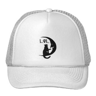 HAT~ LOL Silhouettes ~ Laughing Cat & Sliver Moon Trucker Hat