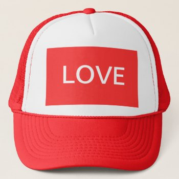Hat  Love  Customize   Red & White by creativeconceptss at Zazzle