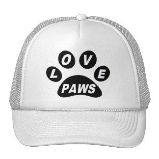 Hat Love Paws on Paws Black