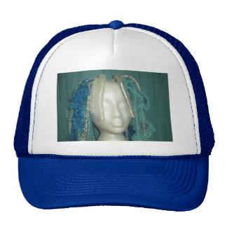 hat mesh blue cyber dreads