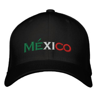 Hat: Mexico lindo, tri-color Embroidered Hats