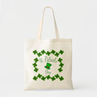 Hat n Shamrocks St Patrick s Day Tote Bags