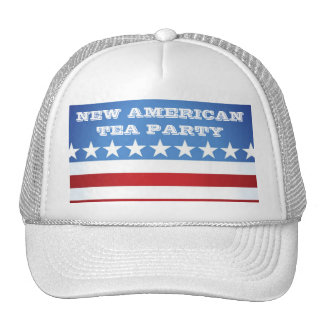 HAT-NEW AMERICAN TEA PARTY TRUCKER HAT