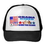 Hat: Obama/Biden - Flag - Secure Your Freedoms