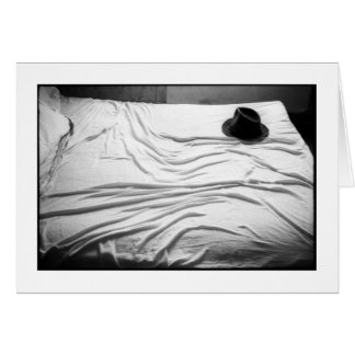 HAT ON BED Card Greeting Card