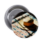 Hat on Bed Pinback Buttons