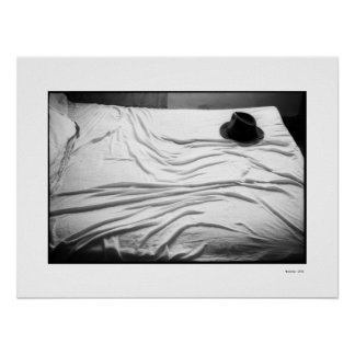HAT ON BED Poster Poster