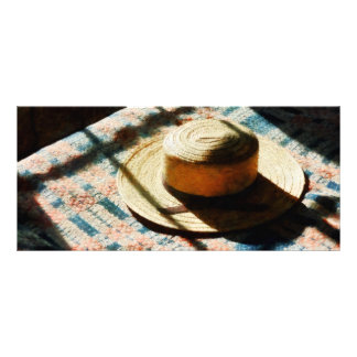 Hat on Bed Personalized Rack Card