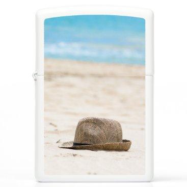 Beach Themed Hat on the beach zippo lighter
