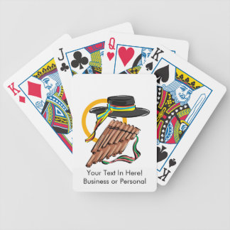 hat pan flute ribbon music design.png bicycle playing cards