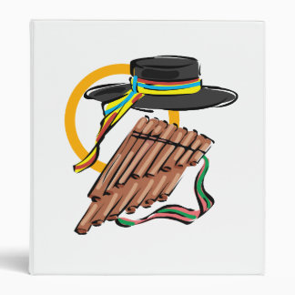 hat pan flute ribbon music design.png binder