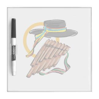 hat pan flute ribbon music design.png Dry-Erase whiteboard