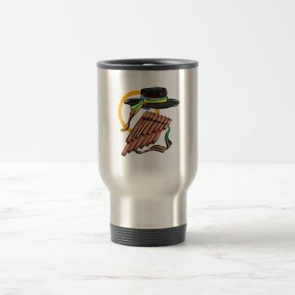 hat pan flute ribbon music design.png mugs