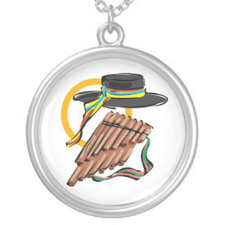 hat pan flute ribbon music design.png custom necklace