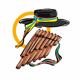 hat pan flute ribbon music design png acrylic cut out