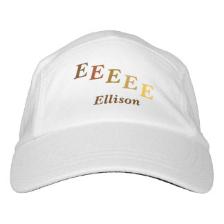 Hat, Performance - Name and Stepped letters Headsweats Hat