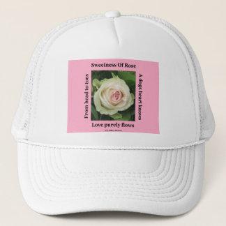 Hat Poem Poetic Rose On Pink By Ladee Basset