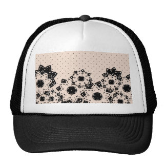 Hat Polka Dot and Flowers