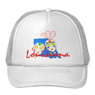 HAT~ Promo for Louisiana Map & Mardi Gras Masks Trucker Hat