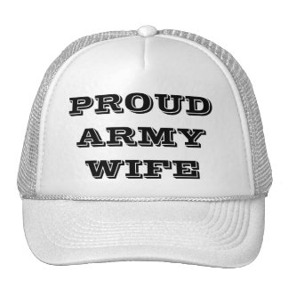Hat Proud Army Wife